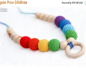 SALE 25% off Juniper Rainbow Nursing necklace / Teething necklace by MagazinIL