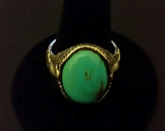 Navajo Turquoise Eagle Ring