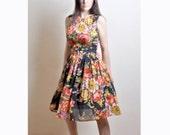 Floral Cotton Dress, Day Dress, 100% Cotton, Custom made