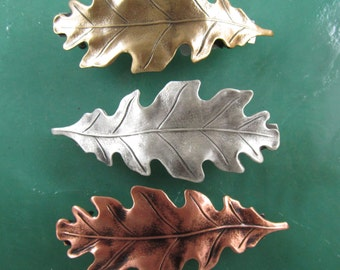 Oak Leaf French Barrette 60mm-Hair Accessories- Hair Clips- French Clips- Small French Barrette