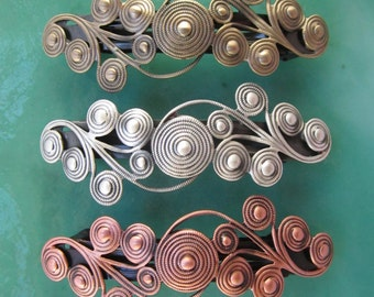 SPIRAL FRENCH BARRETTE 80mm-Multi Spiral design-Hair Accessories-Barrettes and Clips