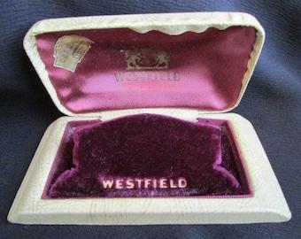 Vintage Art Deco WESTFIELD WATCH PRESENTATION Case Storage Box Jd3-105