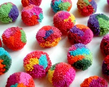 Pom Pom Cotton Pom Poms Multi Colored Handmade Cotton Pom Pom Wholesale Pom Pom Party Decor Art Supplies Wedding Decor Handmade Supplies 50+