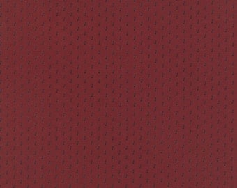 CHRISTMAS GATHERINGS - Cranberry  - One Half Yard - #1178-15 - by Primitive Gatherings - Moda - Reproduction - Christmas