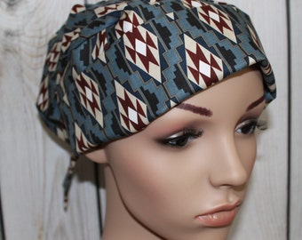 Pleated back Surgical Scrub Hat with band. Maddox