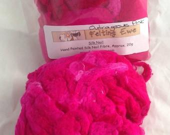 Silk Noils Outrageous Pink