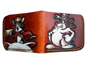 FF7 Caitsith carved and painted leather wallet