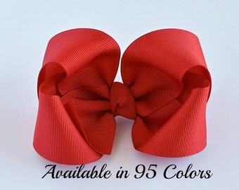 Red Hair Bow, Hair Bows for Toddlers, Girls Hair Bows, 4 Inch Hair Bows, Hair Bows, Hair Bows for Girls, Baby Bows, Hair Bows for Women,