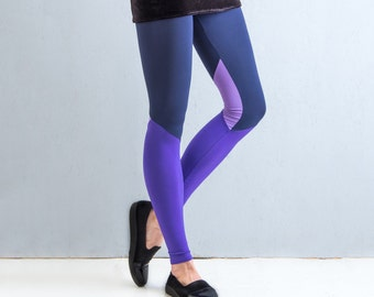 Violet Quartz - panelled leggings