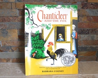 Chanticleer and the Fox - Canterbury Tales - Geoffrey Chaucer - Chanticleer Rooster children's book - illustrated book - paperback