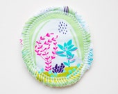 Succulence - Menstrual Cup Coaster - Cup Rug - Cup Spot