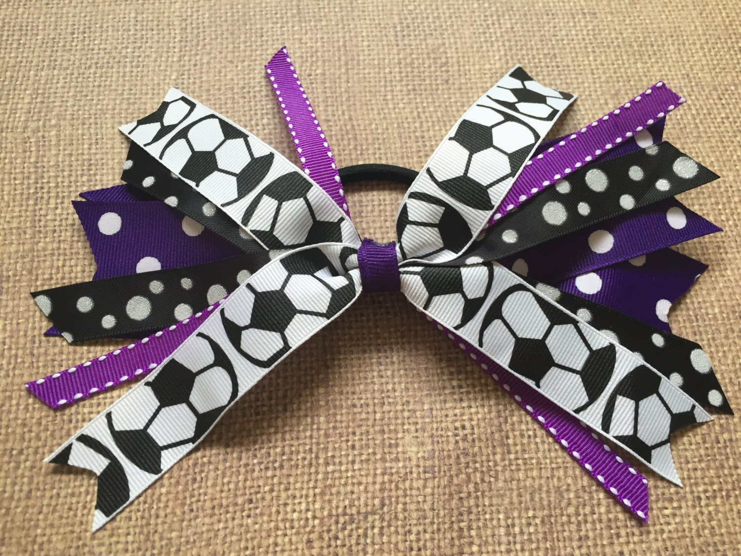 foto de Custom Team Colors Softball Hair Ties Softball Hair Bow