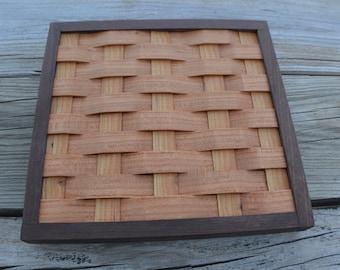 trivet cooling rack Cherry with Walnut wood frame
