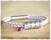 Best Friend Gift • Friend Long Distance Bracelet • Mom Jewelry • Gift For Friend • Hidden Message