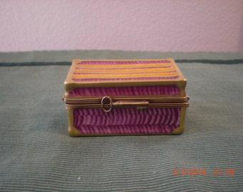 Peint Main Limoges trunk box