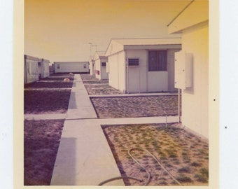Vintage Snapshot Photo: Residential Compound, c1970s (68493)