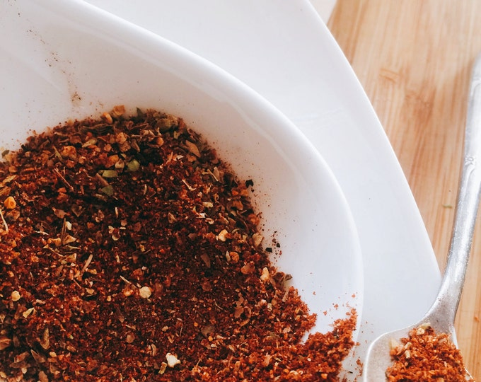 Yucatan Rojo, Mexican Spice Seasonings with added warmth and citrus, carne asada, shredded pork, tacos, fajitas