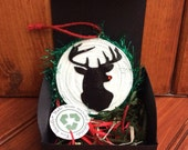 Eco-Friendly Reindeer Ornament White