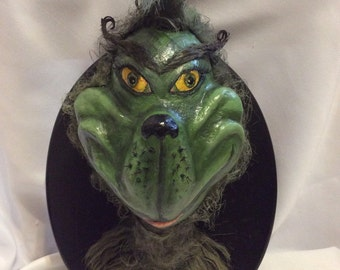 The Grinch! Faux taxidermy sculpture