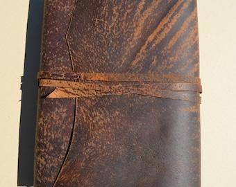 Distressed Pigskin Journal Art Sketchbook Bound Leather Guest Notebook Custom Order (590B)