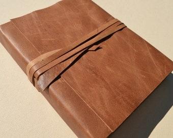 Elegant Handmade Custom Order Leather Bound Journal Diary Watercolor Art Notebook  (533C)