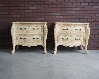 Nightstands / French Provincial Bedside Chests / French Nightstands / Pair of Nightstands