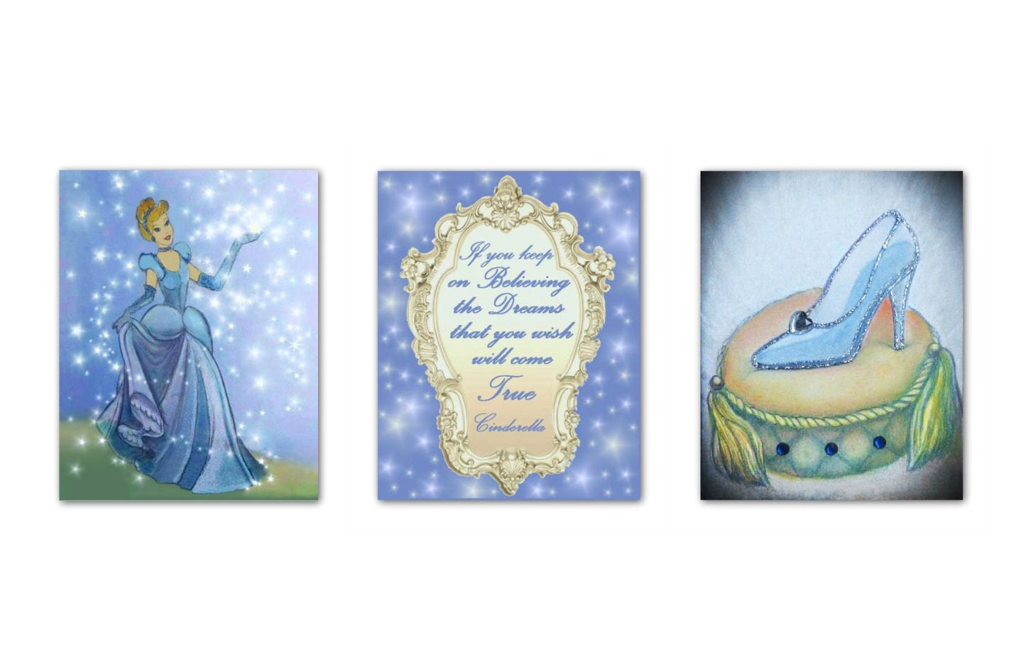 Princess Nursery Art Cinderella Wall Art Girls Room Decor