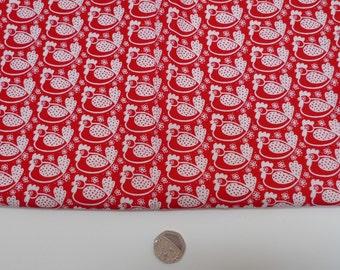 Westfalenstoffe, chicken fabric, red cotton fabric, quilting weight, ÖEKO-TEX 100, fat quarter, sewing supplies