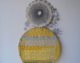 Wall Tapestry, wire sculpture, fibre art, decorative WALL hanging