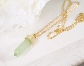 The Simone Necklace - Lime