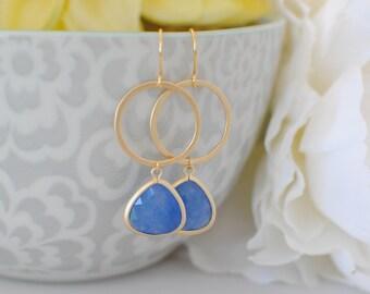 The Valerie Earrings - Sapphire