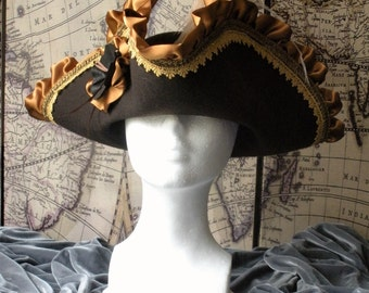 Brown Betty Pirate Tricon Hat