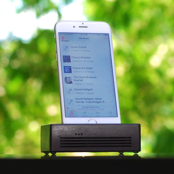 iPhone 6 Docking Station - The CONCERT  Speaker Dock in BLACK – Use With or Without a Cover - Amplifies the Sound