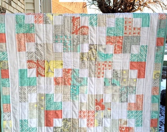 Swell Baby Quilt in Modern Roses