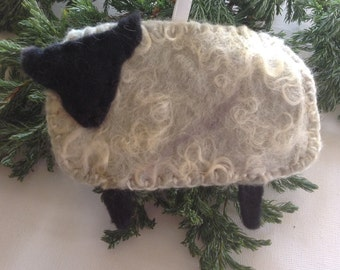 Christmas tree ornament, tree decoration, sheep, original ornament, felt decoration