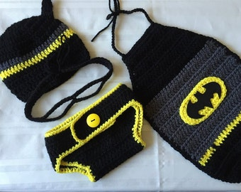 Baby Costumes, Infant Costumes, Baby Halloween Costumes, Baby Superhero Costume, Crochet Baby Outfits, Crochet Baby Clothes, Newborn Costume