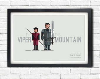 Game of Thrones - VIPER & MOUNTAIN - 19x13 Poster