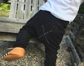 Handmade Hipster Baby Leggings | Baby Harem Pants | Baby Harems | Baby Boy Pants | Baby girl Pants | Black Leggings X Collection