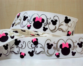 "7/8"" Minnie Mouse Head with Foil - 3 yards"