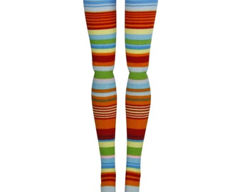 """17"""" Monster High Doll Stockings - Primary Stripe - Doll Clothes"""