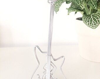 Wire Sculpture Bass Guitar