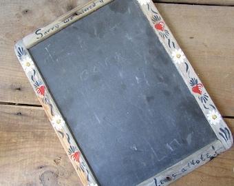 Chalkboard Vintage Blackboard Handpainted Primitive Decor