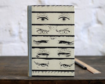 """Hardcover Notebook Tartuensis Classic """"Eyes"""", Dotted Paper Journal"""