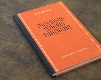 "Hardcover Notebook Tartuensis Classic ""Orange Theory"" from discarded book covers"
