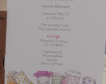 INVITATIONS for BABY SHOWER or First Birthday with stylish socks!  Customize wording and font!