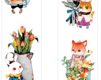 1 Roll of Japanese Anime Paper Tape -The Cute PETS
