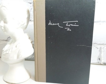 On Sale Price Mark Twain. The Complete Essays. Hardback Edition. 1963. Gifts for Him. Famous American Authors. Black Book with Tan Binding.