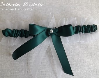 Emerald Green - Wedding Tossing Garter Belt - Pearl - One Size - Plus Size