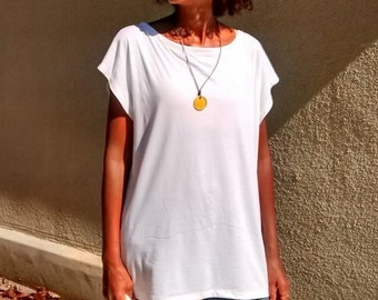 Cap Sleeve Knit Boxy Tee With Side Slits ~ All Sizes / Solors