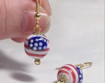 Handcrafted Stars & Stripes Earrings